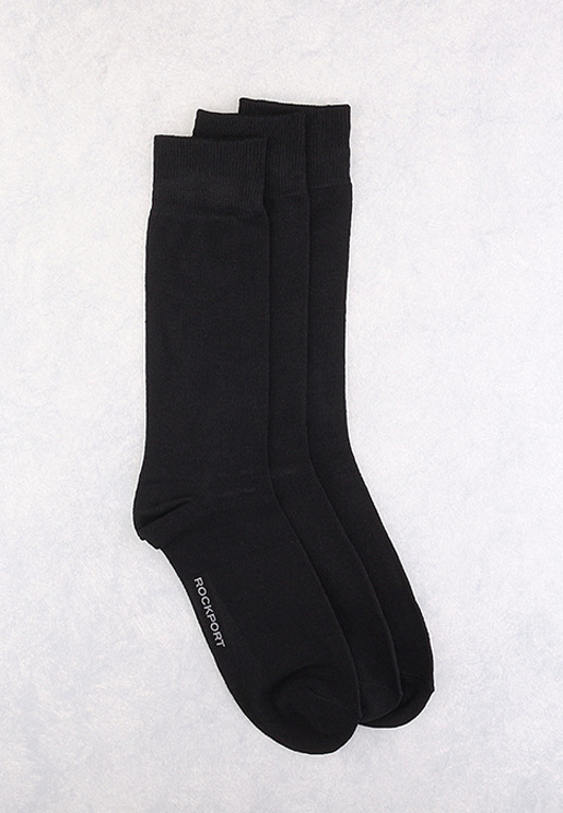 3 Pair Pack Rockport Crew Socks